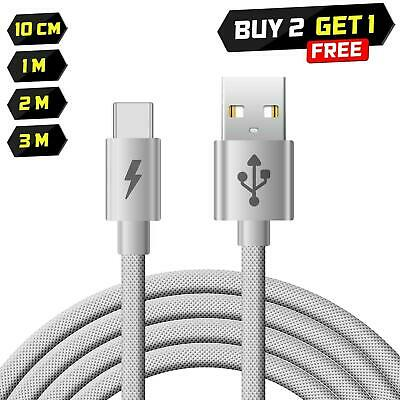 Heavy Duty Strong Braided Fast Charge Usb C Type C Data Phone Charger Cable Lead