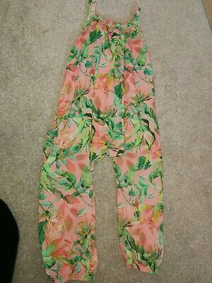 Next Girls Leaf Chameleon Jungle Print Jumpsuit Age 5-6 Years Lovely Condition