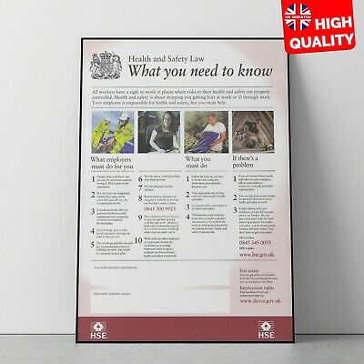 HSE Health & Safety UK Poster Art Medical Educational Print   A4 A3 A2 A1  