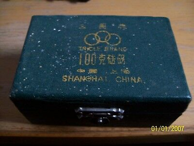 Vintage 1950's Scale Calibration Weight Set TRICLE Shanghai China 100