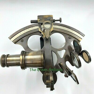 Antique Style Brass Sextant Maritime Collectible Gift