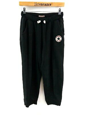 CONVERSE Boys Tracksuit Bottoms Joggers 13-15 Years XL W28 L28 Black Cotton Poly