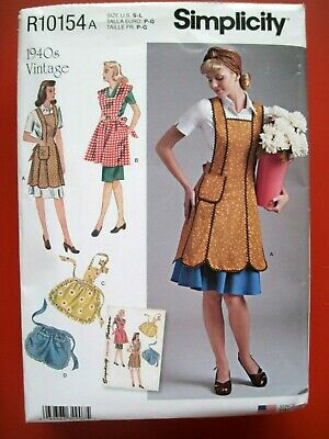 New Simplicity Sewing Pattern R10154 / 8571- 1940'S Vintage Style Aprons S-M-L