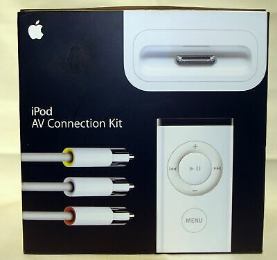 New Apple iPod AV Connection Kit PN: MA242LL/C Factory Sealed Free Shipping
