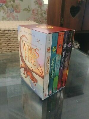 Boxed Set 1-5 WINGS OF FIRE Series Box Set by Tui T. Sutherland Softcover