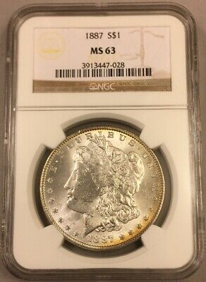 1887 Morgan Silver Dollar - NGC - MS63 - Bright White - Uncirculated