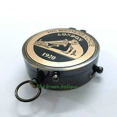 Brass Lid Antique Compass Maritime Collectible Gift