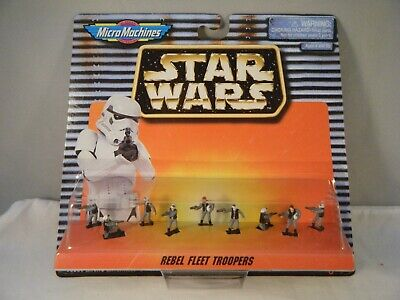 Star Wars Micro Machines REBEL FLEET TROOPERS Galoob 1996