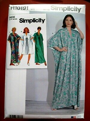 New Simplicity Sewing Pattern R10191 / S8877 Misses Caftan One Size Fits Xs-Xl