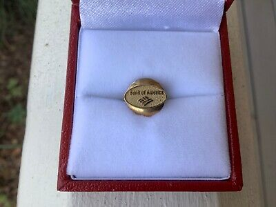 Vintage Bank Of America 10K Gold Service Pendant converted to Lapel Pin