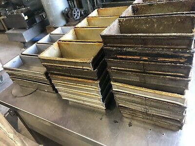 4 Lot Of Strap Bread Pans - 17 Total