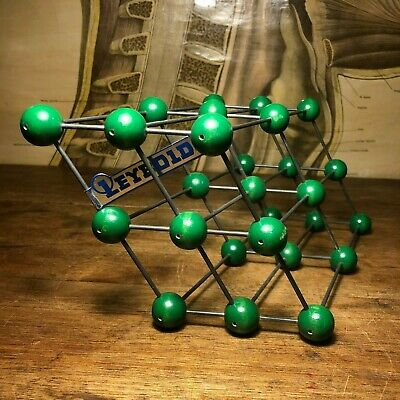 Vintage TRICLINIC CRYSTAL STRUCTURE school educational molecular model atoms