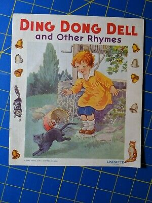 Vintage Ding Dong Dell and Other Rhymes Linenette Sam'l Gabriel Sons & Co. 1940s