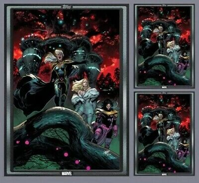 3x NCBD SILVER COVER-OCT 2-HOUSE OF X #5-TOPPS MARVEL COLLECT DIGITAL