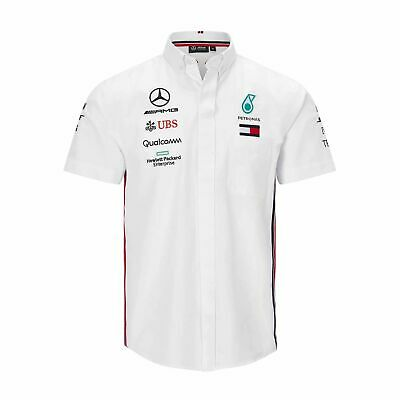 2019 Mercedes AMG Petronas Motorsport F1 Team Mens Shirt White size L NEW