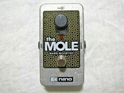 Used Electro-Harmonix EHX Mole Bass Booster Guitar Effects Pedal (The Mole)