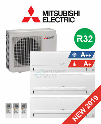 Mitsubishi Electric Climatizzatore Trial Split Smart 9+9+12 btu R32 MXZ-3HA50VF