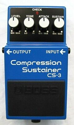 Used Boss CS-3 Compression Sustainer Guitar Effects Pedal