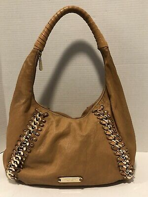 NEW MICHAEL KORS Hobo Coffee Brown Leather Suede Women's