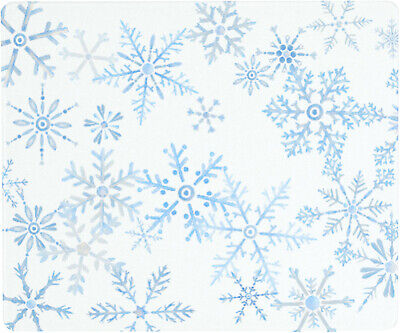 Vance 12 X 10 inch Winter Snowflakes Saver Tempered Glass Cutting Board
