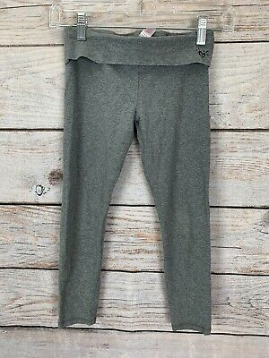 Justice Active Girls Grey Leggings Yoga Fall Winter Spring Size 8
