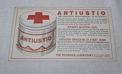 Antiustio Burn Remedy Frederick Laboratory Ink Blotter Toledo Ohio Unused Nos