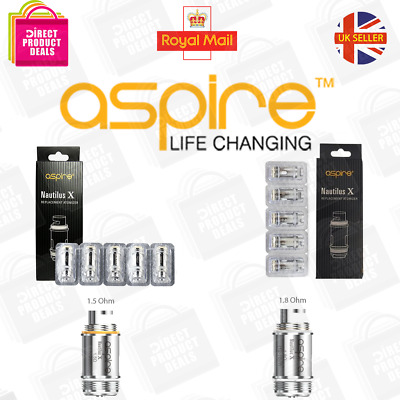 ASPIRE NAUTILUS X 1.5Ohm | 1.8Ohm COILS Genuine U-Tech Replacement Coil Heads UK