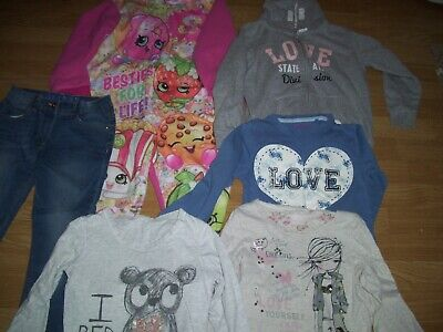 Girl's winter bundle of clothing.Age 7-8 years.Tops, hoodie, jeans,pj's.