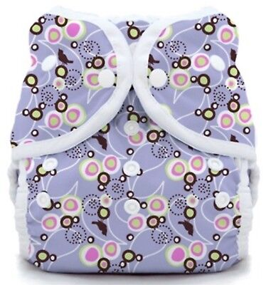 Cloth Diaper Thirsties Duo Wrap Size 1 Snaps - Baby Bird Lavender