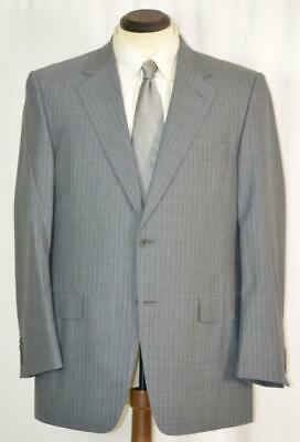 New $1895 CANALI 2 Button Side Vent Single Pleat Grey Pinstripe SUIT Slim 42 R