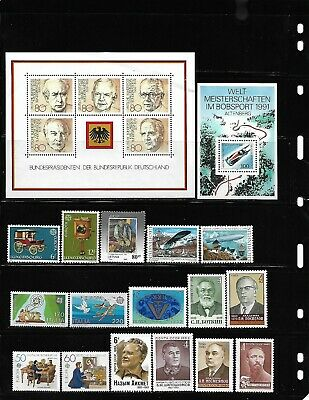 World, Collection lot of 100 MNH all different worldwide stamps see 4 scans #16