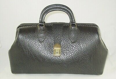 VTG Schell Top Grain Cowhide Steampuck Leather DOCTOR'S MEDICAL BAG #71424 w/Key