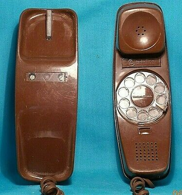 ROTARY DIAL Trimline Desk TELEPHONE BROWN Color WESTERN ELECTRIC TESTED it Works