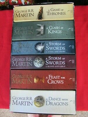 GAME OF THRONES - George Martin  Complete 6 books Boxed Set Excellent CONDITION