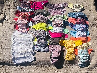 GroVia Cloth Diapers: 17 AIO, 5 ONES, 4 HookNLoop With 10oc Soakers *FIXER LOT