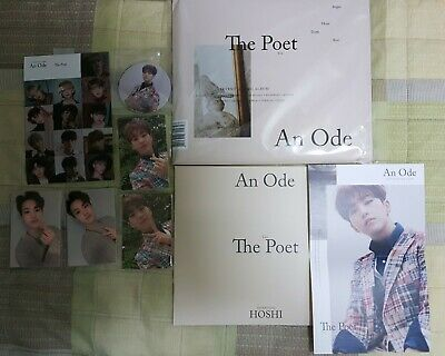 SEVENTEEN 3rd Full Album 'An Ode' The Poet Ver. COMPLETE HOSHI SET!