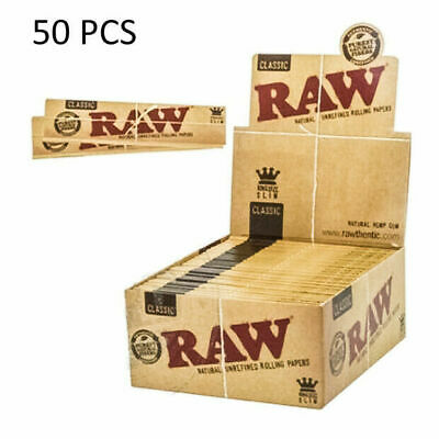 50 Packs/32 Per Pack)Box Classic King Size Slim Rolling Papers (Full Box) New