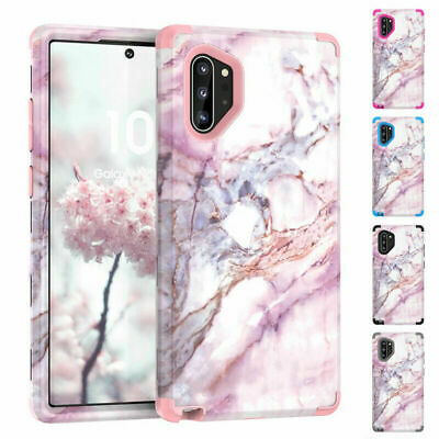 Marble Pattern Shockproof Hybrid Hard Case Cover For Samsung Note 10 Plus S10 S9