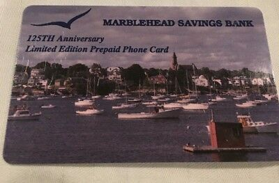 Limited Edition Prepaid Phone Card - no time remains - Marblehead Bank 125 Years