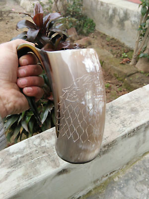 Game Of Thrones Stark-Sigil Wolf Viking-Drinking Horn Mug Cup-Beer Wine Mead Ale