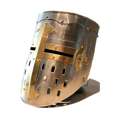 MEDIEVAL Templar Knight CRUSADER HELMET ARMOR for Sca Larp collectible Gift