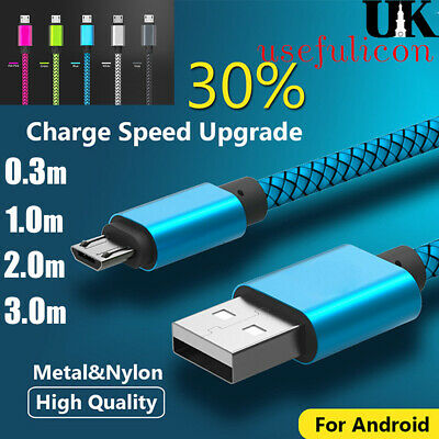 Micro USB Cable Quick High Speed Data Sync Lead Power Fast Charger Android Phone