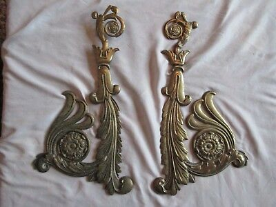 Vintage Brass Ornate Architectural Pair with fixing holes 1 kg each