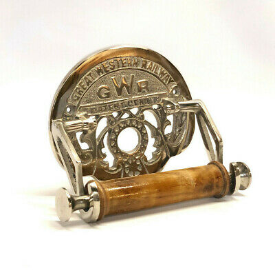 Brass Toilet Roll Holder Novelty Vintage Retro GREAT WESTERN RAILWAY (GWR)