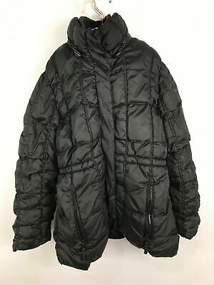 Girls Next Black Thick Padded Quilted Winter Coat Jacket No Hood Zip Up 11-12 Yr