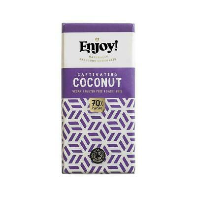 Enjoy! Coconut Chocolate Bar 70g (Pack of 12)