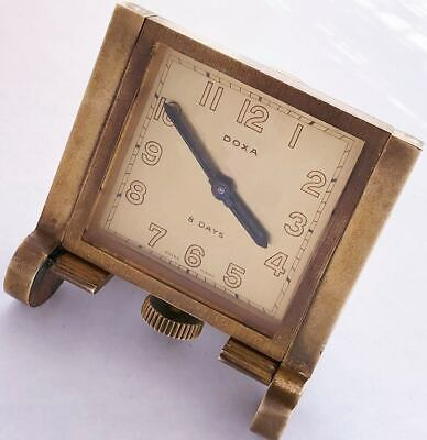 15 Jewels Swiss made 8 Days Doxa vintage antique table mini table clock watch