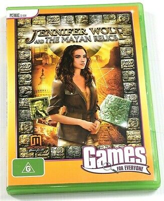 Jennifer Wolf & The Mayan Relics Game PC Hidden Mystery Object Puzzle Adventure
