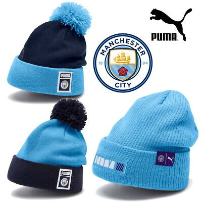 PUMA Official Manchester City Football Club MCFC PomPom Culture Bronx Beanies