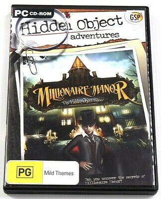 Millionaire Manor Game PC Hidden Object School Mystery Puzzle Adventure